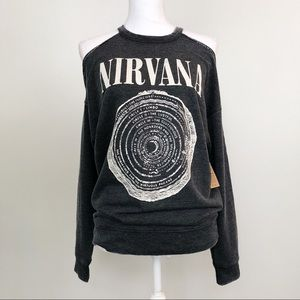 American Eagle • Gray Nirvana Graphic Shirt New S